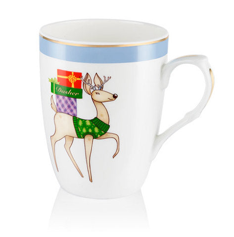 Dasher Christmas Mug - Carleton Varney