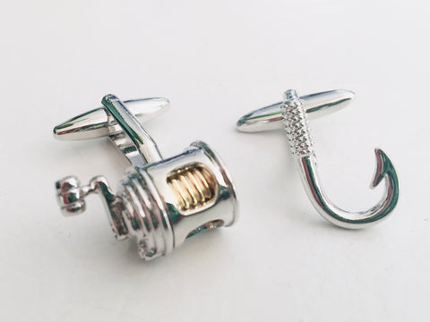 Reel and Hook Cufflinks