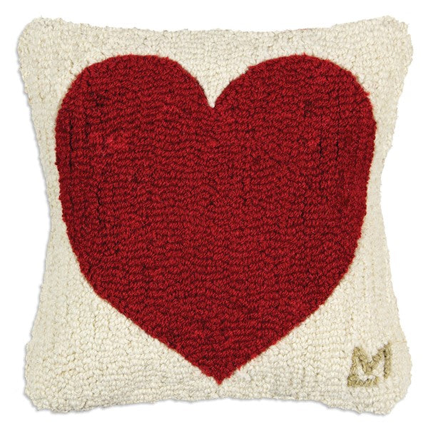 Heart - 14'' x 14'' Wool Pillow - Carleton Varney