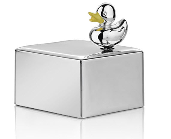 Silver-plated Duck Music Box - Carleton Varney