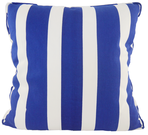 Carleton Varney Striped Skipper Blue Throw Pillow Cover - Carleton Varney