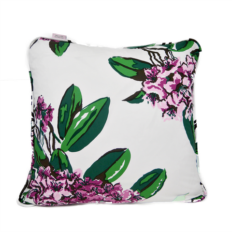 Rhododendron White Throw Pillow Cover - Carleton Varney