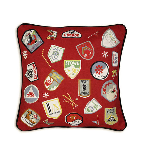 SKI PASS CANVAS PILLOW - Carleton Varney