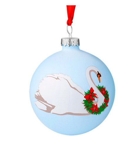 Swan with wreath bauble