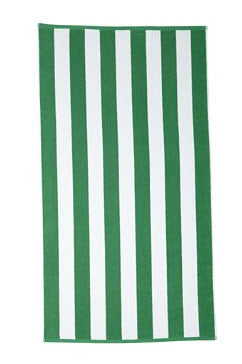 Cabana Beach Towel - Green Stripe - Carleton Varney