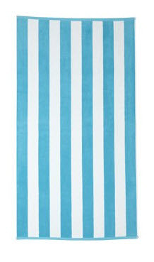 Cabana Beach Towel - Blue Stripe - Carleton Varney
