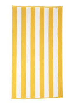 Cabana Beach Towel - Yellow Stripe - Carleton Varney