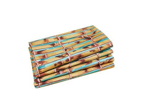 Set of 4 Napkins - Bamboo - Carleton Varney