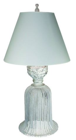 Large Tassel Lamp - Silver Finish - Carleton Varney