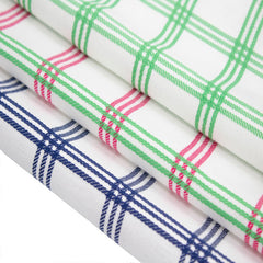 "Set of 4 Large 20"" x 20"" Plaid Napkin - Pink/ Green"