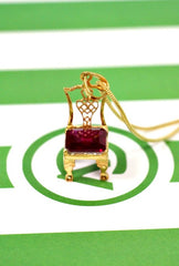 Your Choice of Birthstone Chair With Gold Necklace - Carleton Varney