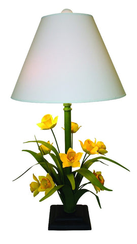 Carleton's Hand Painted Daffodil Flower Table Lamp - Carleton Varney