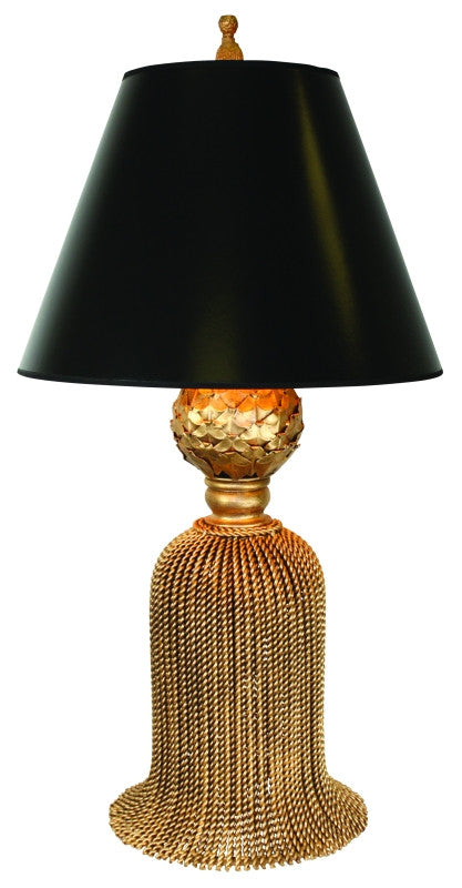 Large Tassel Table Lamp - Gold Finish - Carleton Varney