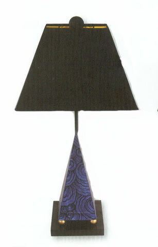 Carleton's Pyramid Malachite Table Lamp - Blue - Carleton Varney
