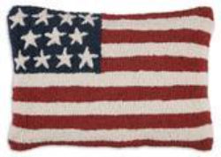 Stars & Stripes - Hand Hooked Pillow - Carleton Varney