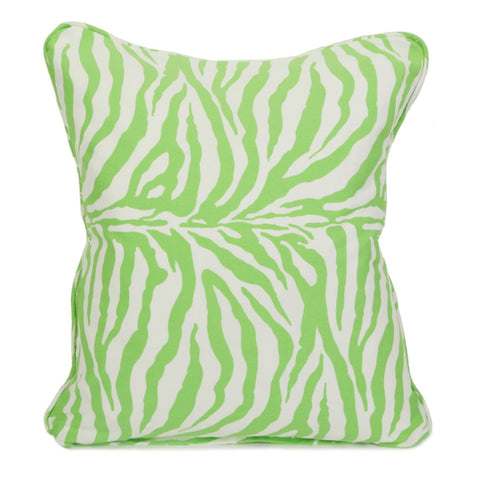 On Safari Lime Throw Pillow Cover - Carleton Varney