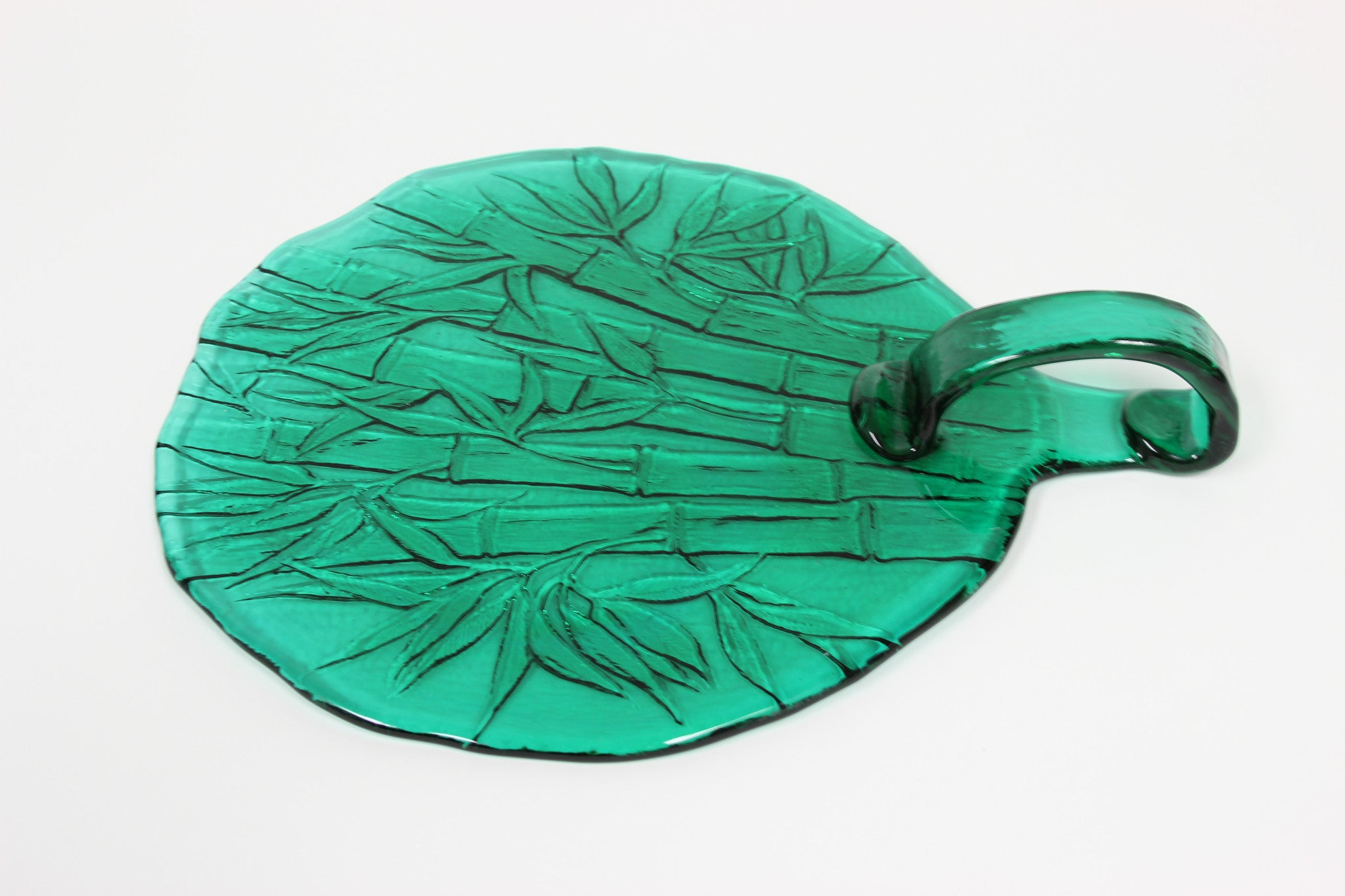 Green Glass Serving Dish - Carleton Varney