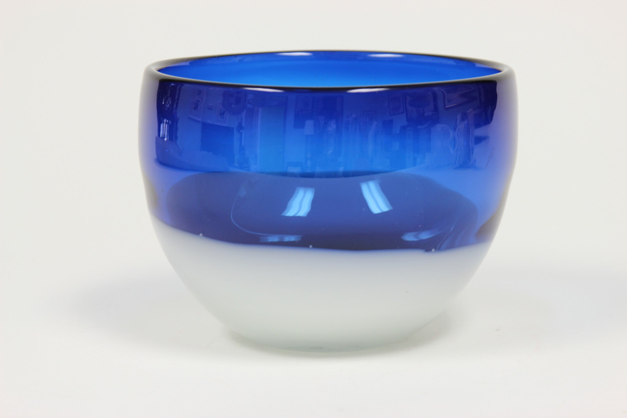 Blue and Clear Glass Bowl - Carleton Varney
