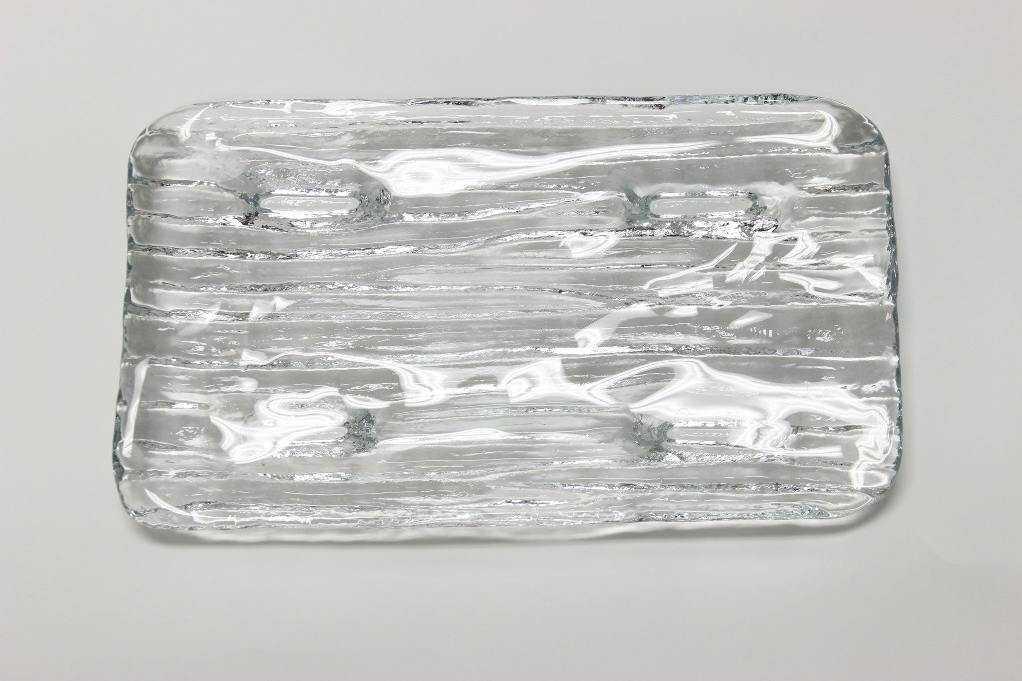 Glass Ribbed Serving Dish - Carleton Varney