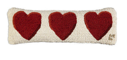 "Love Hearts 8"" x 24"" Pillow - Carleton Varney"