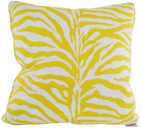 On Safari Yellow Throw Pillow Cover - Carleton Varney