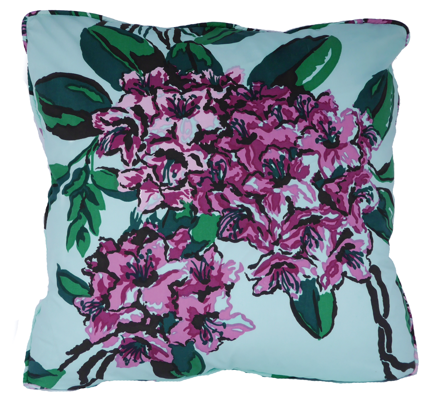 Rhododendron Mint Throw Pillow Cover - Carleton Varney
