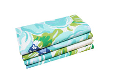 Set of 4 Napkins - Princess Grace Rose Blue - Carleton Varney