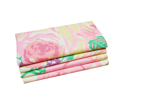 Set of 4 Napkins - Princess Grace Rose Pink - Carleton Varney
