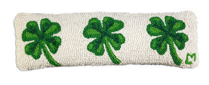 Lucky Clover Wool Pillow - Carleton Varney