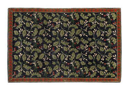 Oak Leaves and Sprigs Wool Rug - Carleton Varney