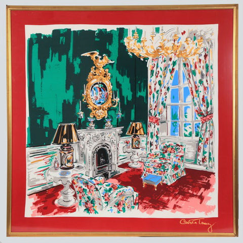 Carleton Greenbrier Writing Room Silk Scarf - Carleton Varney