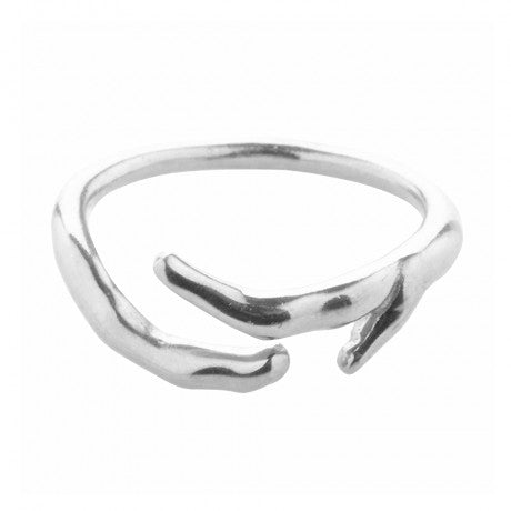 Open Band Coral Ring - Silver - Carleton Varney