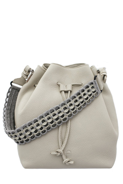 Alysse Bucket Bag - Stone - Front