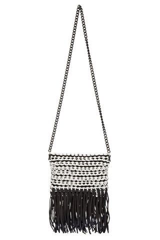 Anja Mini Shoulder Bag - White - Front