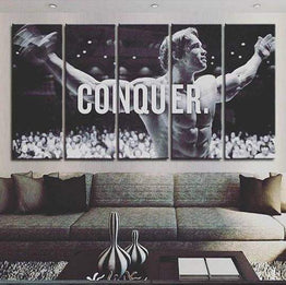 Arnold Conquer Canvas 5 Piece Framed Wall Art | Octo Treasure
