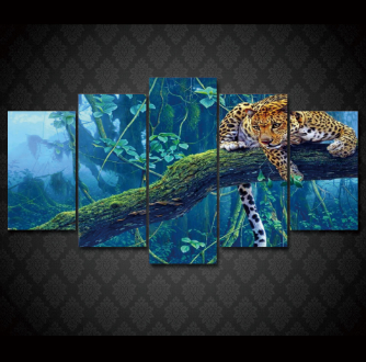 """Leopard Jungle Life"" Canvas Painting"