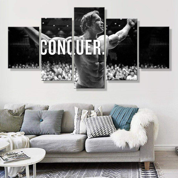 5 Panel Framed Arnold Conquer Canvas Wall Art | OctoTreasure