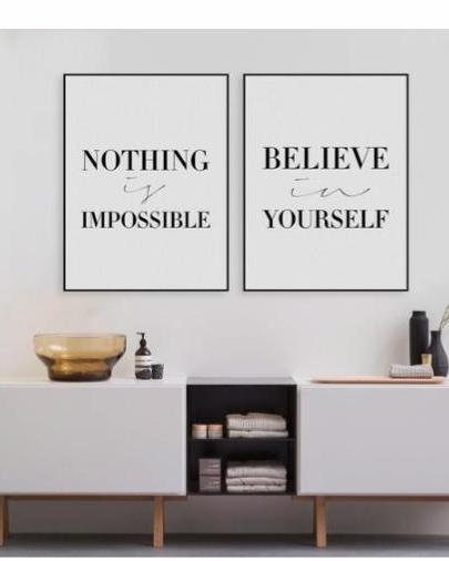 """Power of Believing Quote"" Canvas Wall Art"