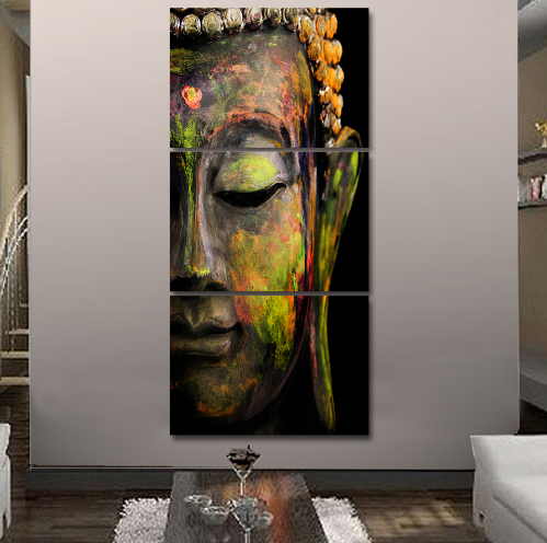 3 Panel Framed Buddha Meditation Canvas Wall Art | Octo Treasure