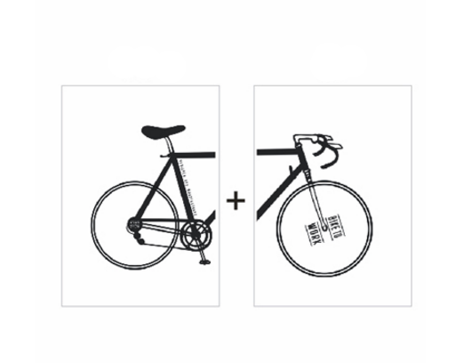 2 Panel Nordic Minimalist Bike Canvas Wall Art | Octo Treasure