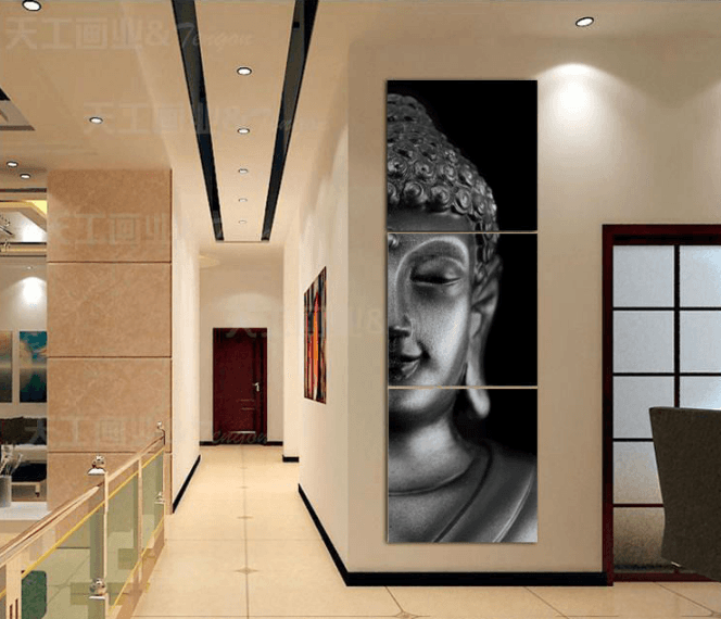 3 Panel Framed Buddha Canvas Painting | Octo Treasure