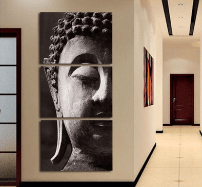 3 Panel Modern Zen Tranquility Buddha Framed Wall Canvas Art | Octo Treasure
