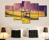 5 Pieces Multi Panel Modern Home Decor Framed Summer Sunset Romantic Park Wall Canvas Art | Octo Treasure