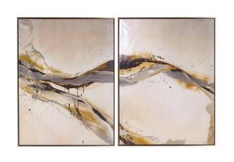 """Ascent"" Two Piece Giclee Framed Wall Canvas Painting 