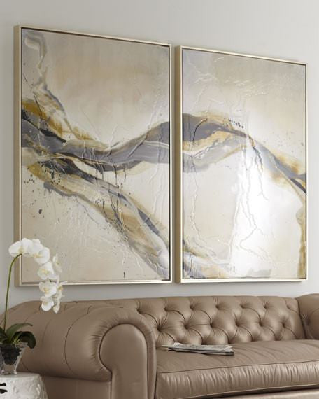 Gryphon Two Piece Abstract Giclee Canvas Oil Painting