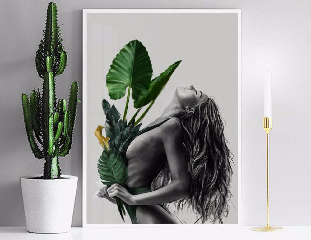 Modern Still Life Natural Women Canvas Wall Posters