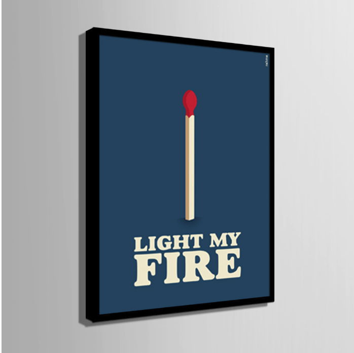 1 Panel Modern Home Decor Framed Letter Series Match Stick Wall Canvas Art | Octo Treasure