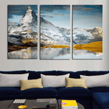 3 Panel Mountain Nature Landscape Framed Wall Canvas | Octo Treasure