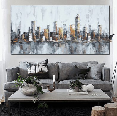 1 Panel Classic New York City Skyline Unframed Modern Wall Canvas | Octo Treasure