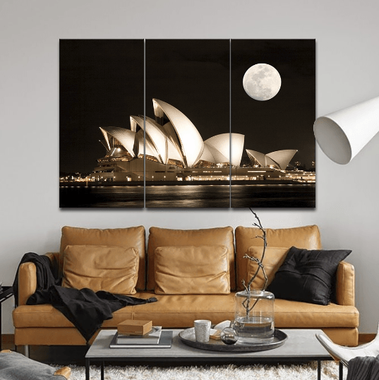 3 Panel Sydney Opera House Framed Wall Canvas | Octo Treasure